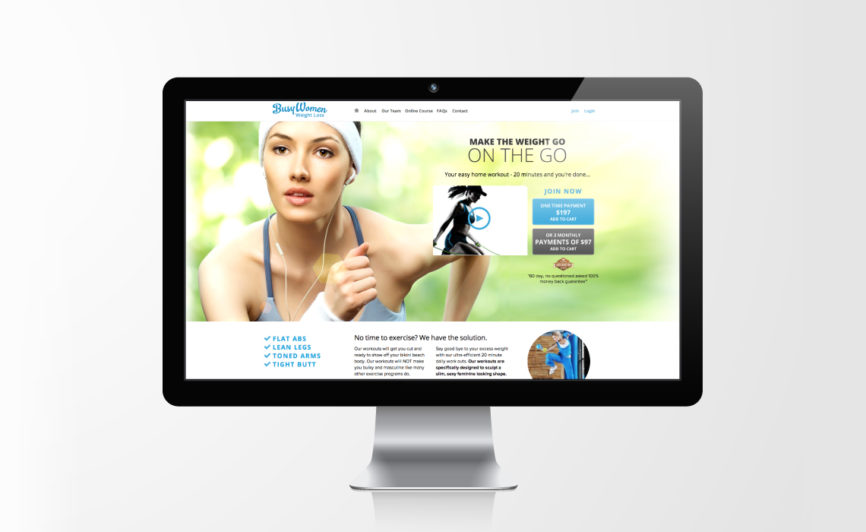Busy Women Weight Loss Web Design by Typework Studio Web Design Agency