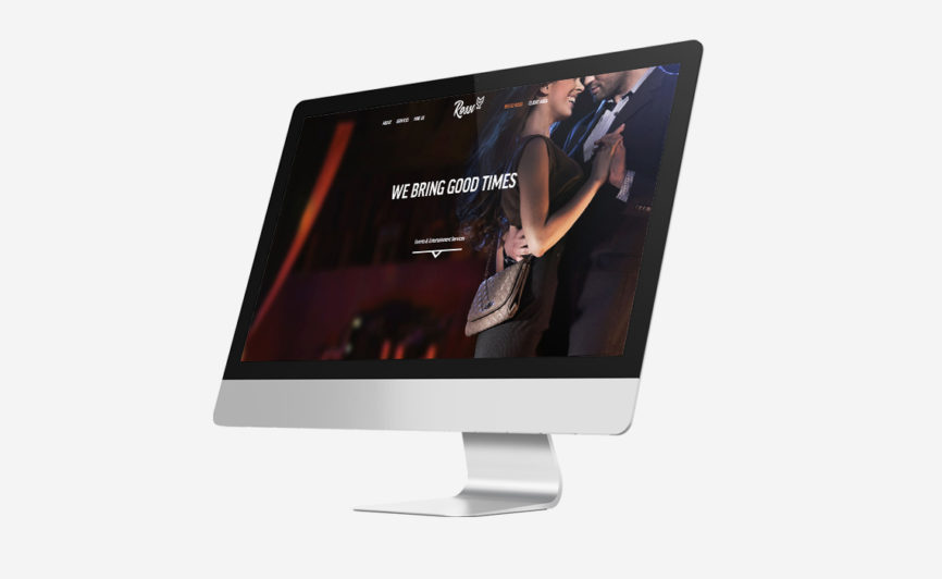 Rossi Entertainment Web Design by Typework Studio Web Design Agency