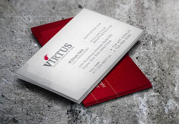 Virtus Business Card Design by Typework Studio Design Agency
