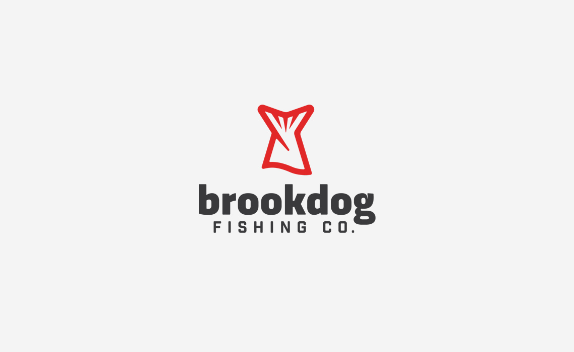 Brookdog Fishing Logo Design by Typework Studio Logo Design Agency
