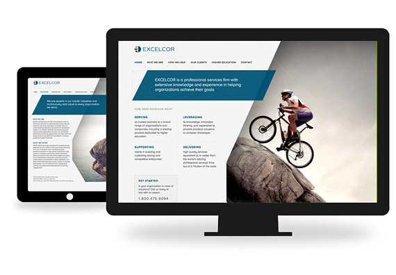 Excelcor CMS Web Design by Typework Studio Web Design Agency