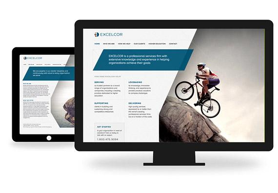 Excelcor CMS Web Design by Typework Studio Web Design Agency