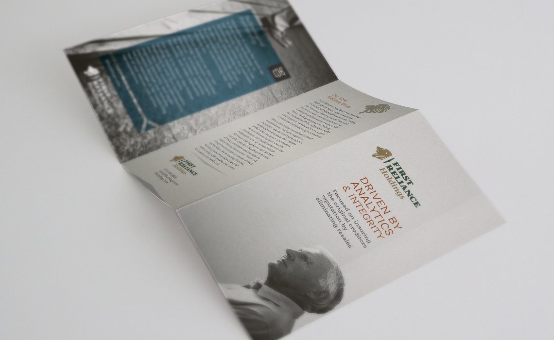 First Reliance Brochure Design by Typework Studio Design Agency