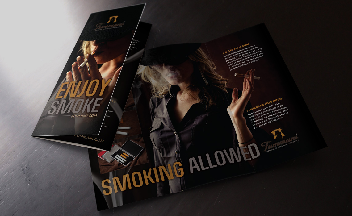 Fummani E-Cigarette Brochure Design by Typework Studio Design Agency