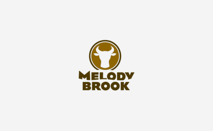 Melody Brook Farm Logo Design by Typework Studio Logo Design Agency