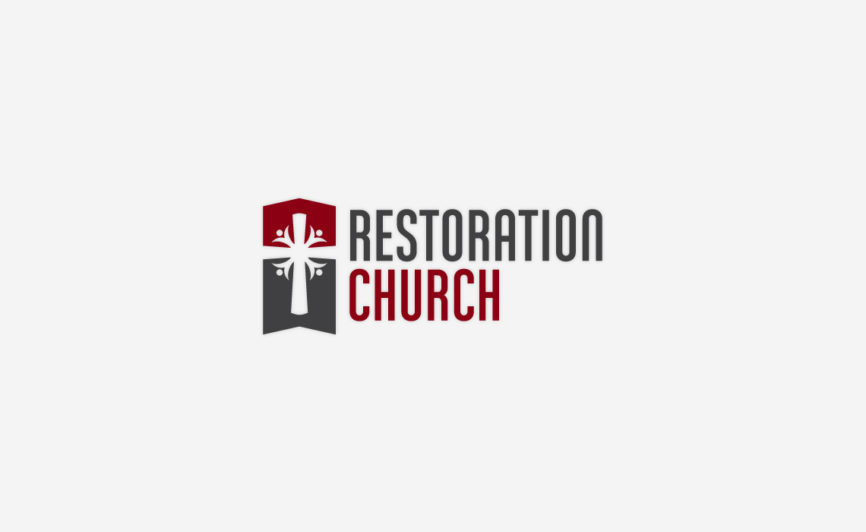 Restoration Church Logo Design by Typework Studio Logo Design Agency
