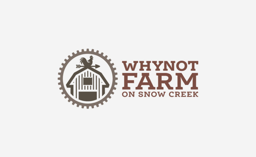 Why Not Farm Logo Design by Typework Studio Logo Design Agency
