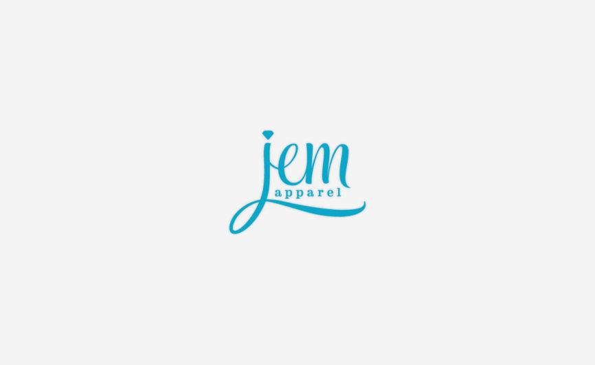 JEM apparel fashion logo design by Typework Studio Logo Design Agency