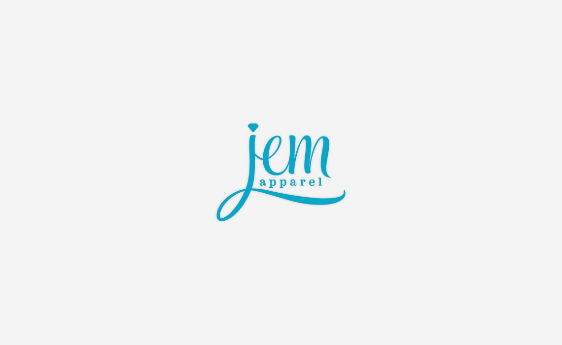 JEM apparel fashion logo design by Typework Studio Logo Design Agency