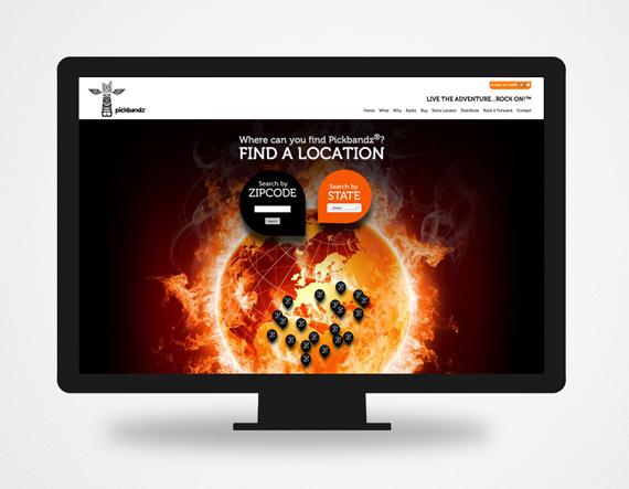 Pickbandz CMS Web Design by Typework Studio Web Design Agency