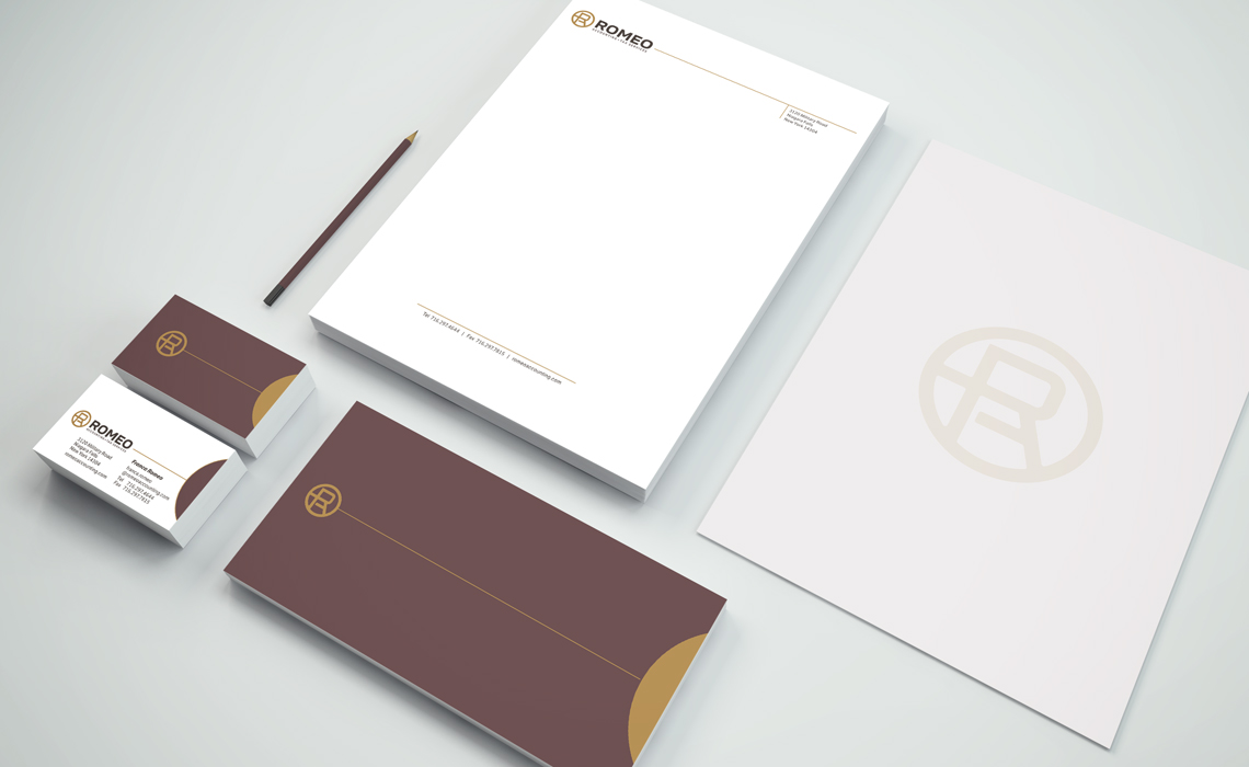 Romeo Accounting Corporate Branding Identity Design by Typework Studio Design Agency