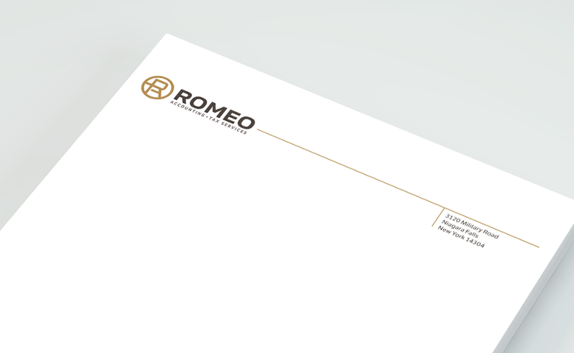 Romeo Accounting Corporate Branding Identity Design