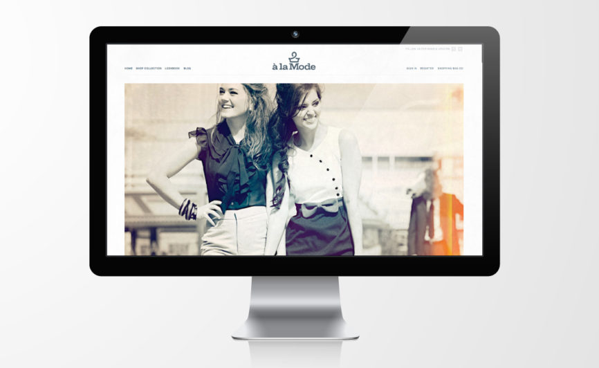 A la Mode Fashion E-commerce Web Design by Typework Studio Design Agency