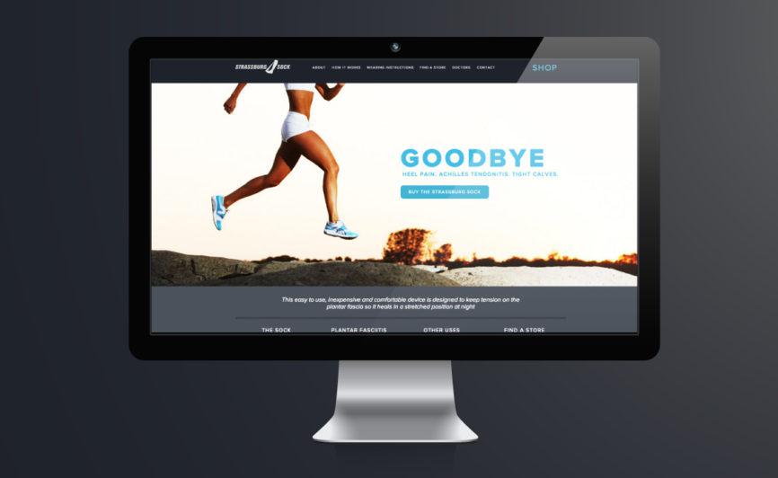 CMS Web Design for the Strassburg Sock by Typework Studio Web Design Agency