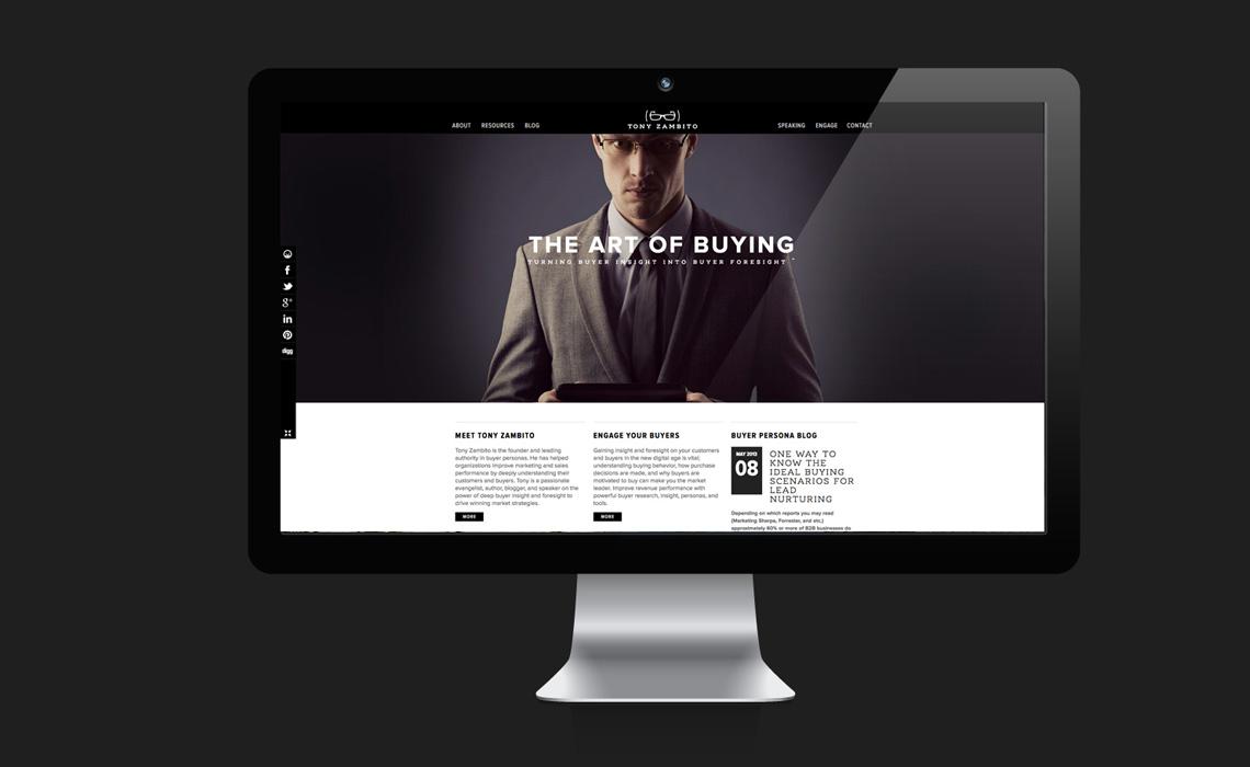 Tony Zambito CMS Web Designby Typework Studio Web Design Agency