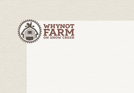 Why Not Farm Stationery Design by Typework Studio Design Agency
