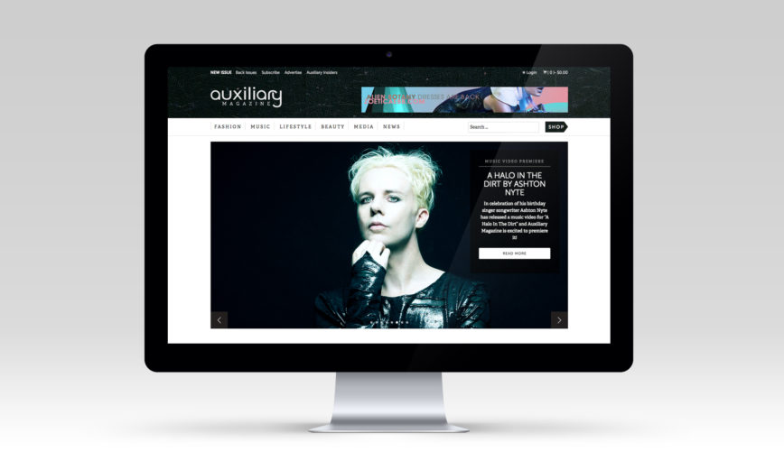 Auxiliary Magazine Fashion CMS Web Design by Typework Studio Design Agency