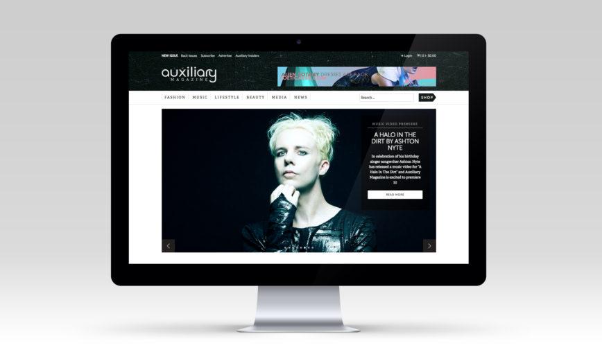 Auxiliary Magazine Fashion CMS Web Design by Typework Studio Design Agency