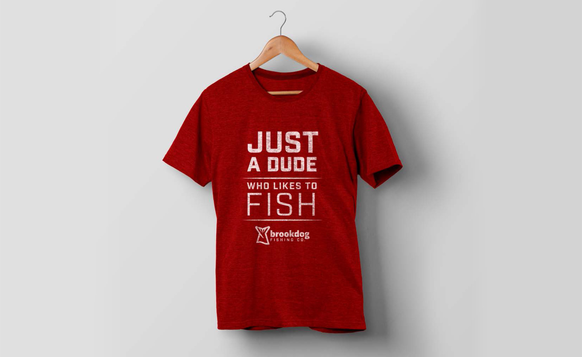 Brrokdog Fishing T-Shirt Graphics and Branding by Typework Studio Design Agency