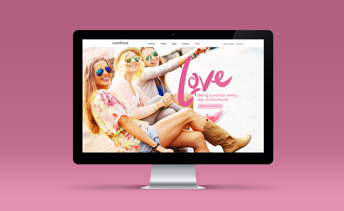 Comforté Beauty E-commerce Web Design
