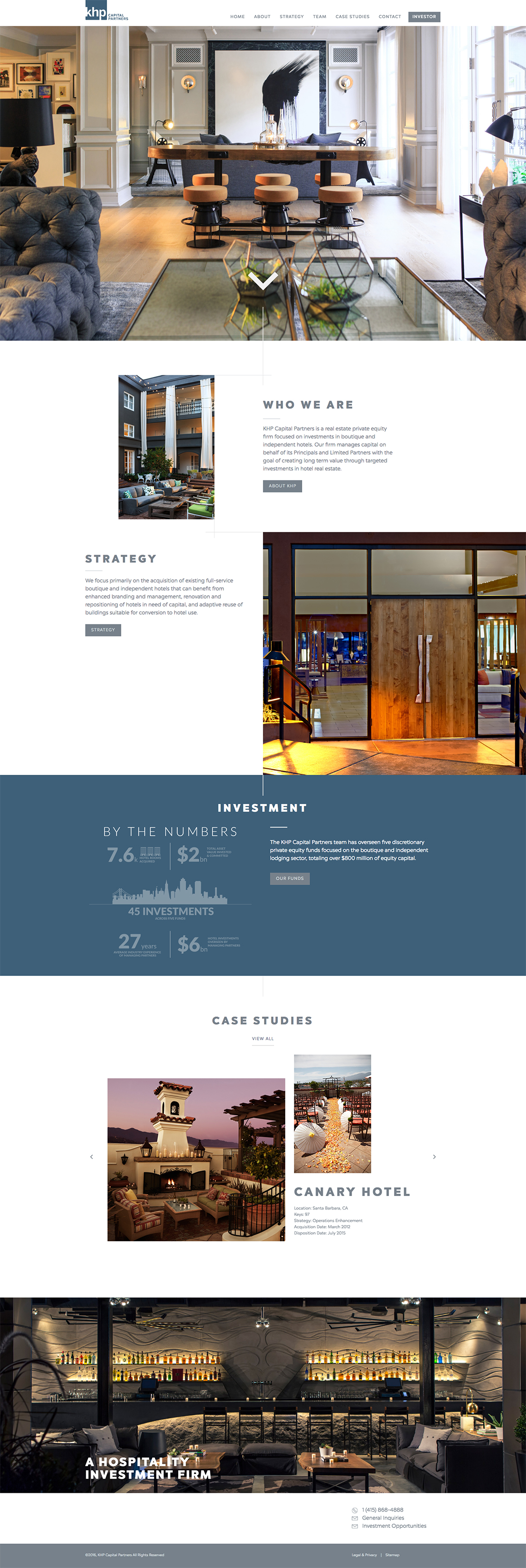 KHP Capital Partners CMS Web Design for Brand Identity