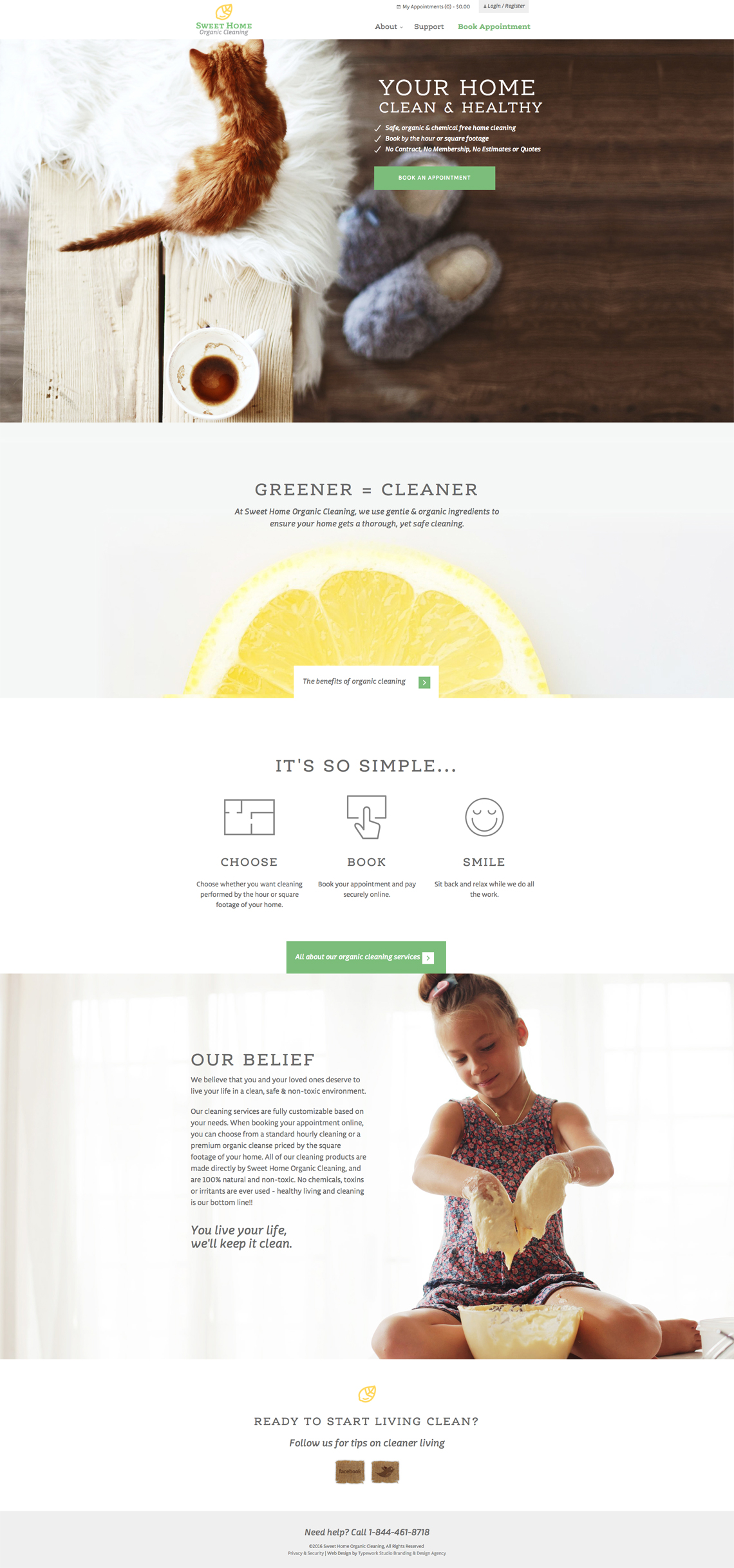 Sweet Home Organics CMS Web Design