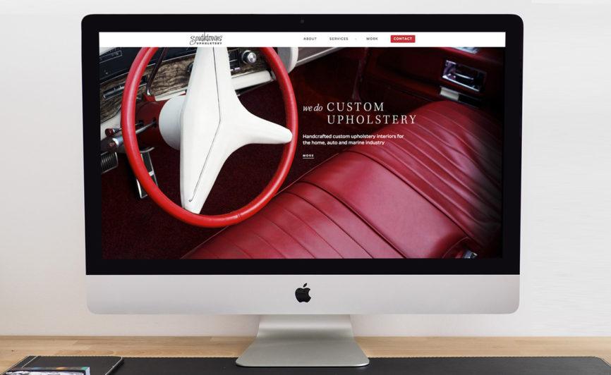 Southtowns Upholstery CMS Web Design by Typework Studio Web Design Agency