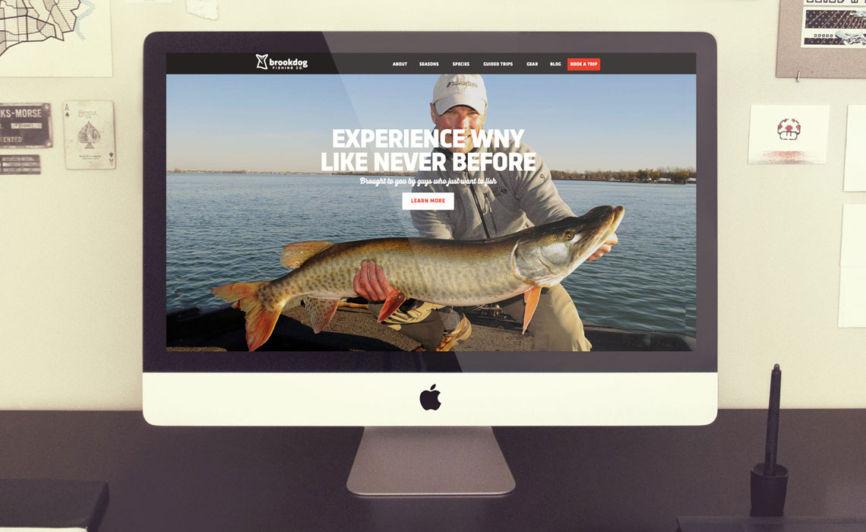 Brookdog Fishing CMS Web Design by Typework Studio Web Design Agency