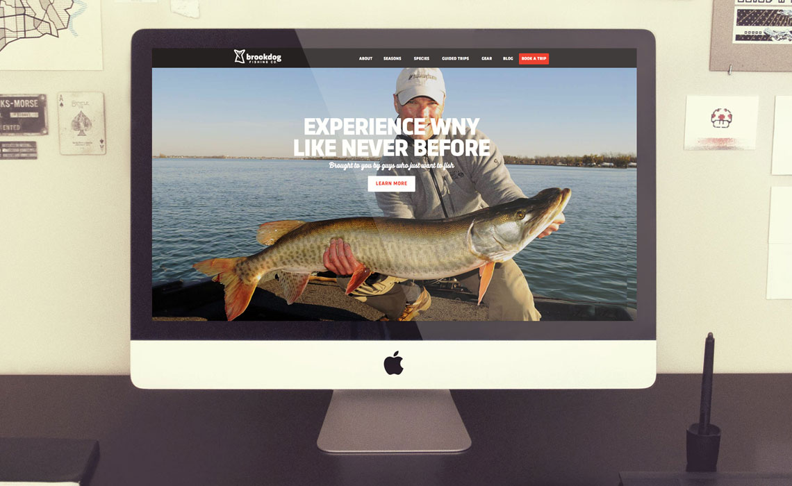 Brookdog Fishing CMS Web Design by Typework Studio Web Design Agency