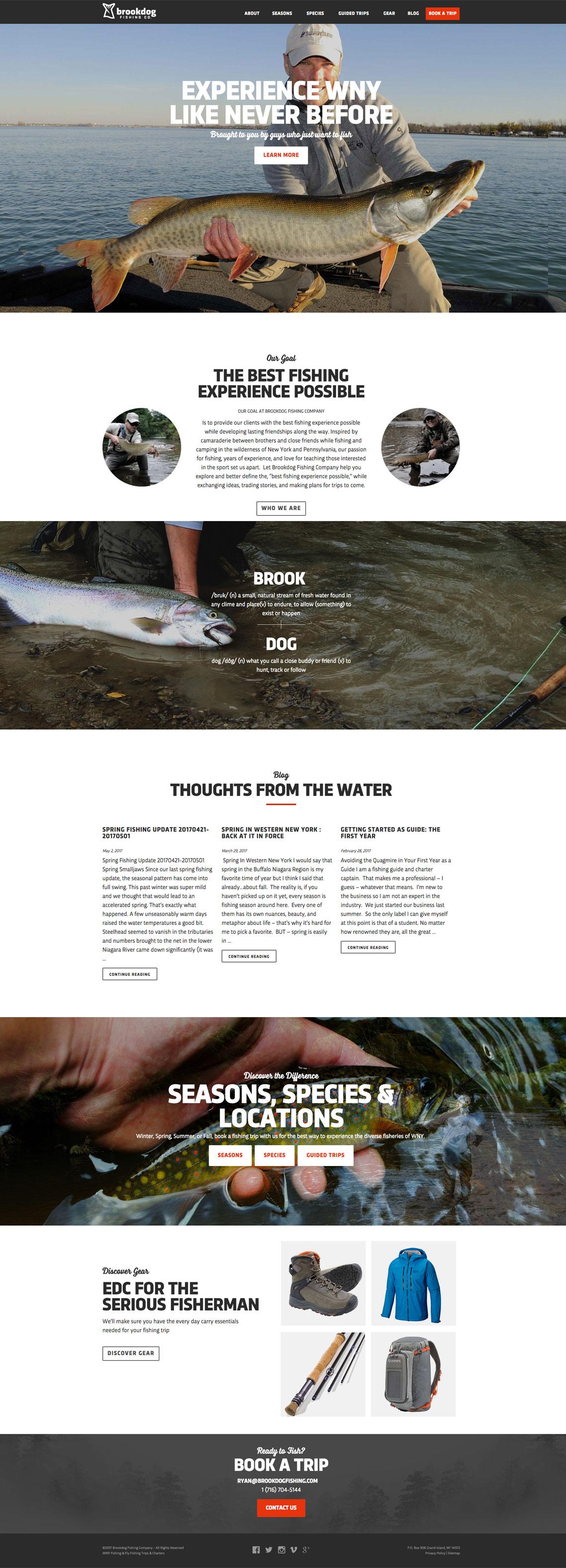 Brookdog Fishing CMS Web Design
