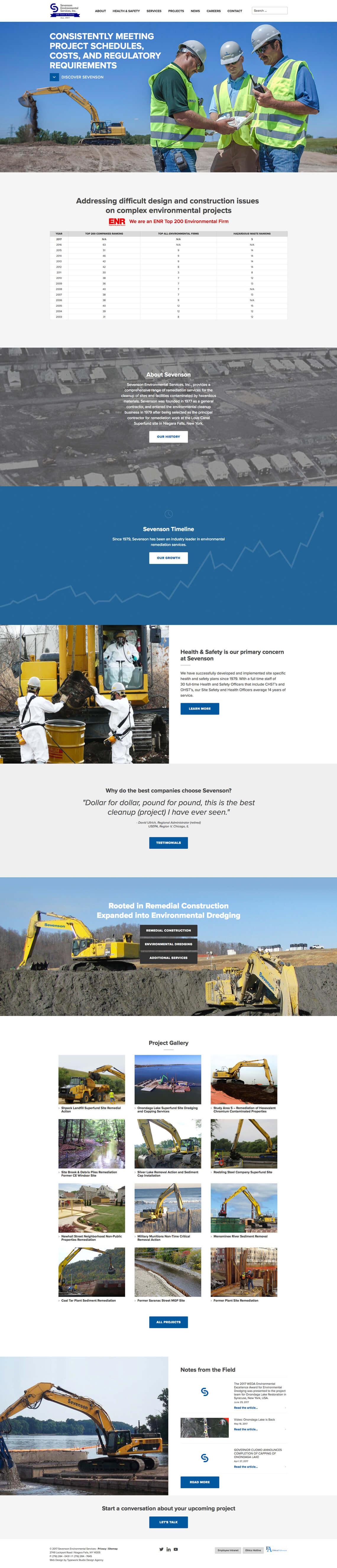 Sevenson CMS Web Design