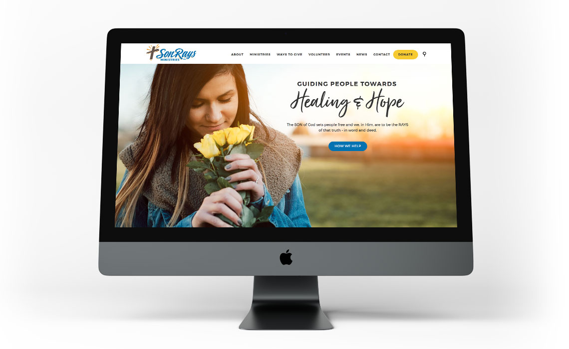 Sonrays Ministries CMS Web Design - Typework Studio