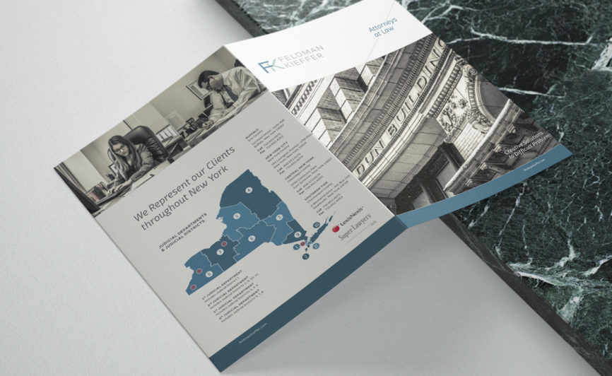 Feldman Kieffer Brochure Design for NY Law Firm