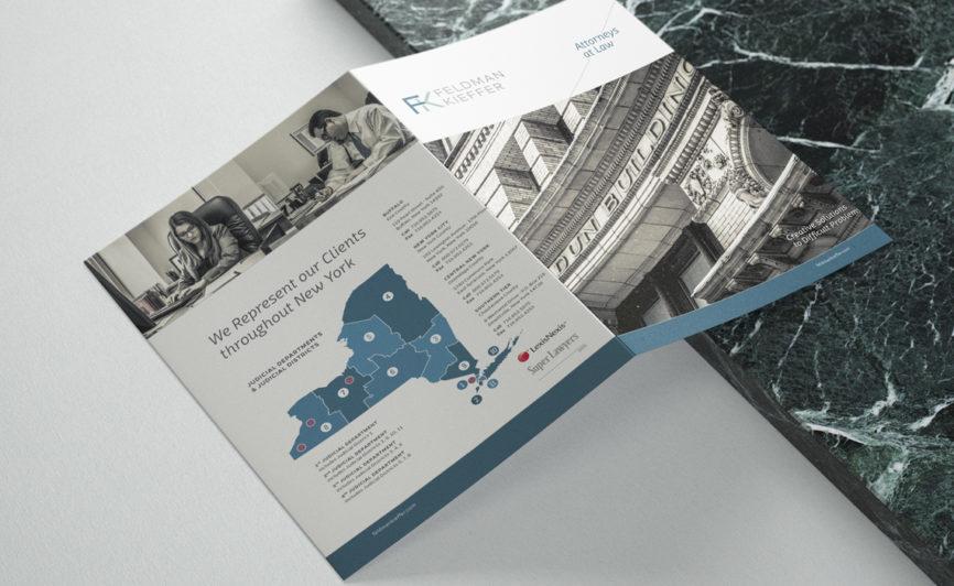 Feldman Kieffer Brochure Design for NY Law Firm