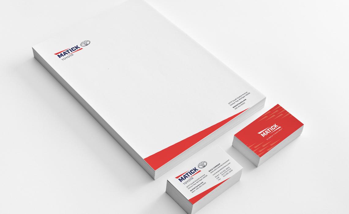 Matick Auto Corporate Branding Design by Typework Studio
