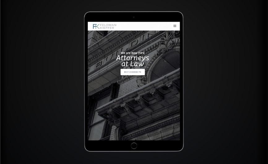 Feldman Kieffer Law Firm CMS Web Design