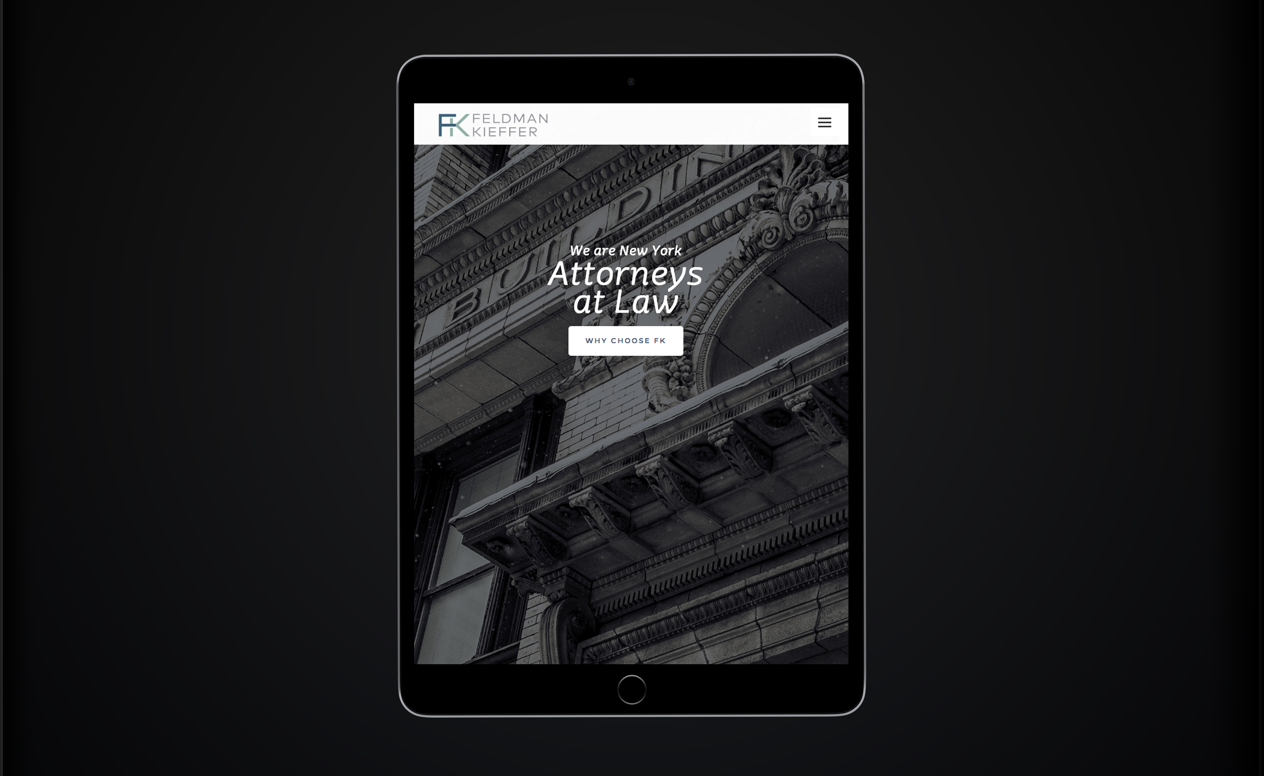 Feldman Kieffer Law Firm CMS Web Design