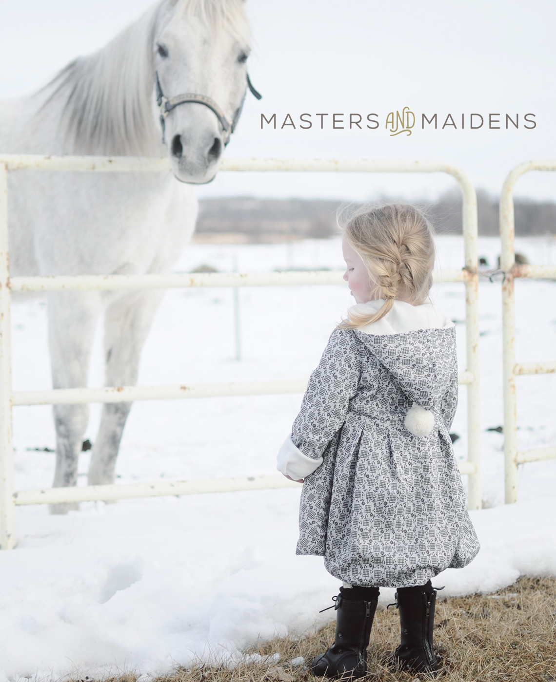 Masters and Maidens Baby Clothing Logo Design