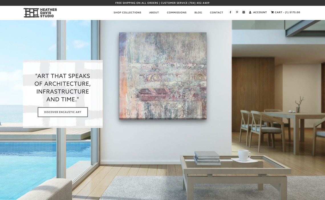 Heather Davis Fine Art CMS + Ecommerce Web Design