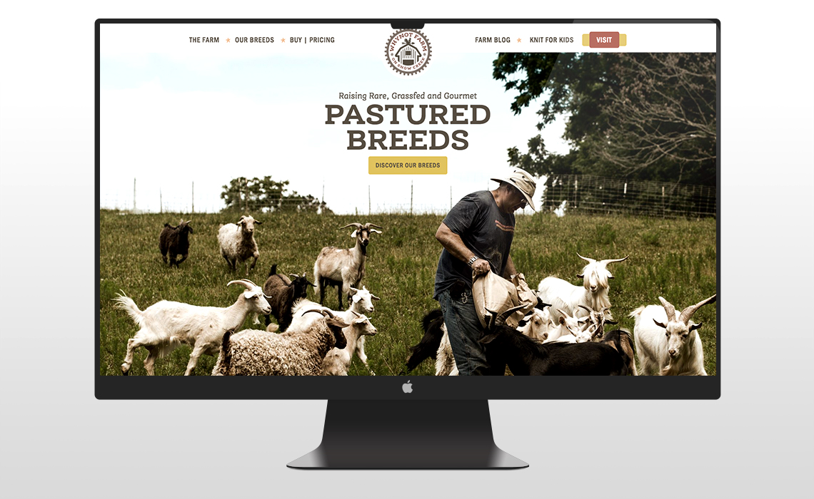 WhyNot Farm CMS Web Redesign