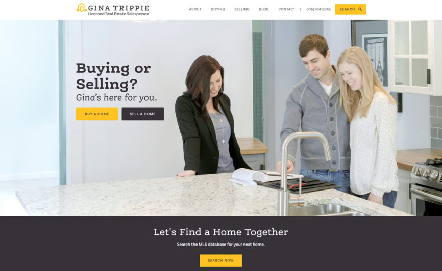Gina Trippie Real Estate CMS Web Design