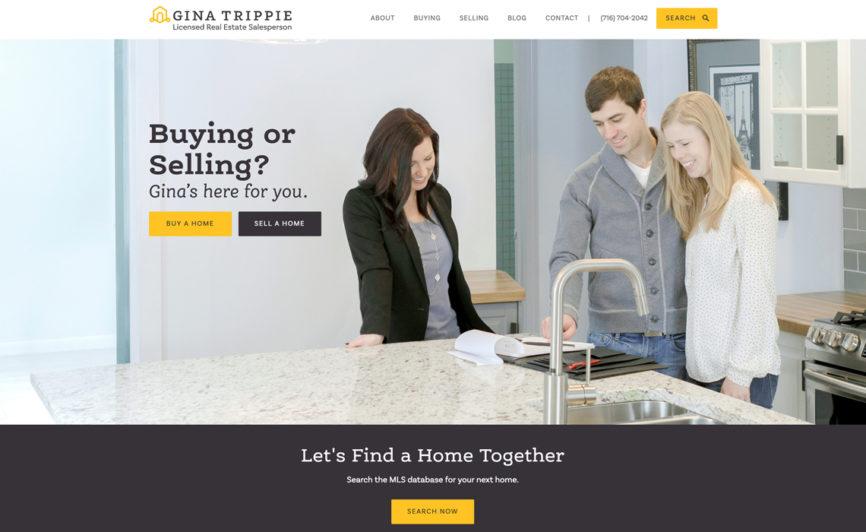 Gina Trippie Real Estate CMS Web Design