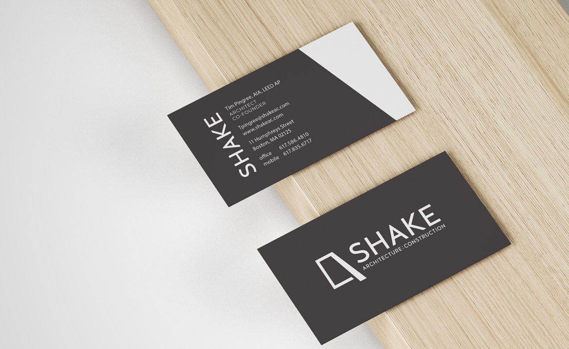 Shake Architecture Business Card Design