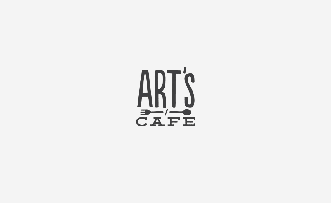 Arts Cafe Logo Design by Typework Studio