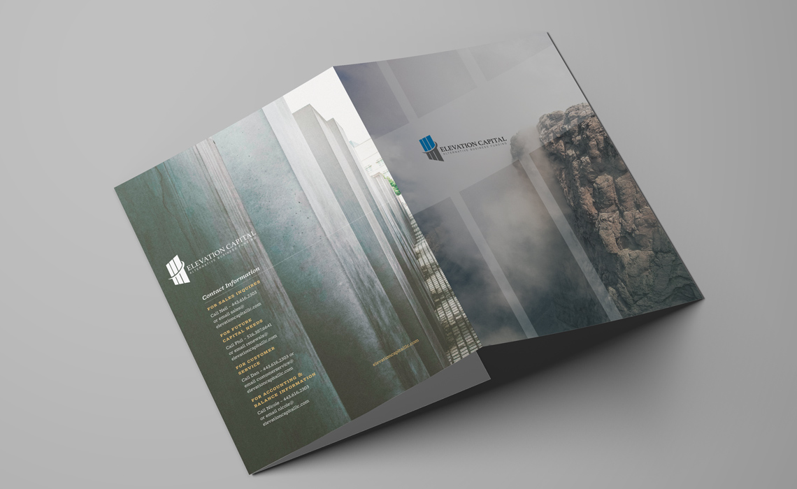 Elevation Capital Funding Brochure Design by Typework Studio