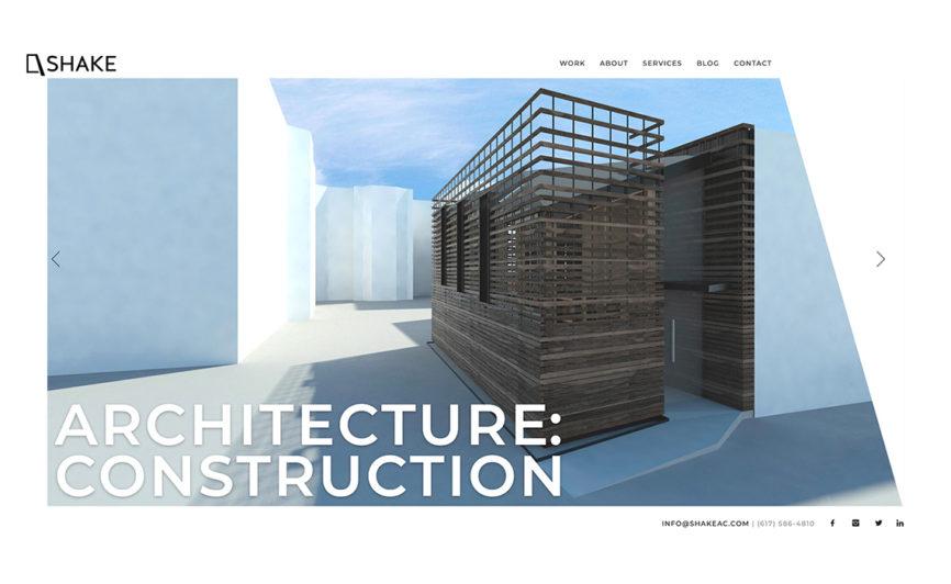 Shake Architecture CMS Web Design