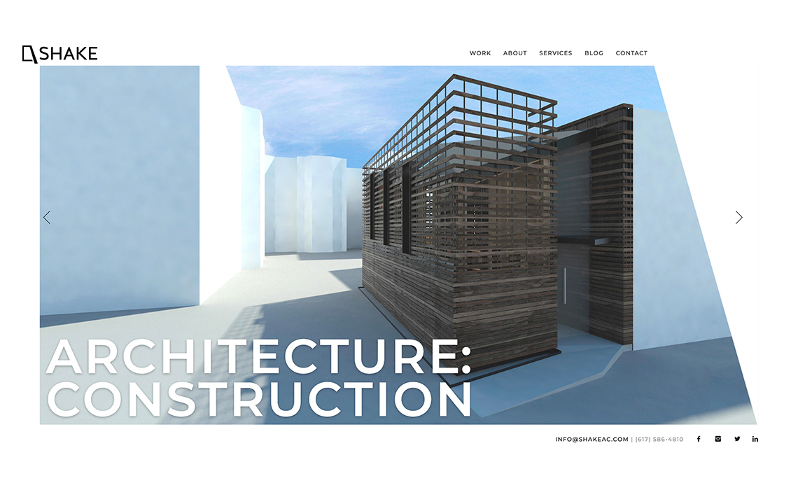 Shake Architecture CMS Web Design